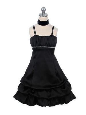 """Нарядное платье """"Суссана"""" черного цвета с сатиновым шарфиком.Платье с завышенной талией, украшенное стразами. Низ платья с оборками. Красивое и изящное платье для настоящих модниц! Длина платья указана с лямками."""