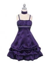 """Нарядное платье """"Суссана"""" фиолетового цвета с шарфиком."""