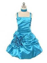 """Нарядное платье """"Сибил"""" лазурного цвета."""