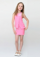 """Элегантное платье """"Мэри"""" розового цвета с болеро."""