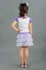 Нарядная юбка с оборками сиреневого цвета.