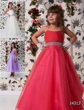 """Бальное платье """"Карина"""" с поясом из страз и пышной юбкой."""