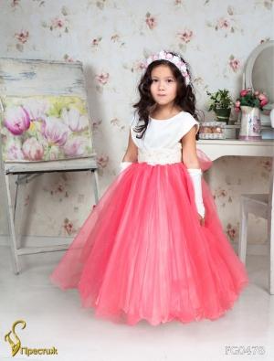 """Бальное платье """"Лирина"""" с пышной юбкой и красивым вышитом поясом. Изысканное платье для настоящих ценителей красоты и моды. Данное платье идеально для бала, а также для любых торжеств! Длина указана от плеча."""