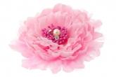 """Брошь-заколка """"Пион"""" розового цвета."""