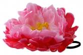 """Большой цветок """"Пион"""" розово-малинового цвета на резинке."""