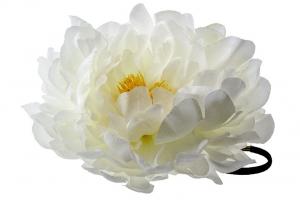 """Большой цветок """"Пион"""" на резинке.Очень красивый и пышный цветок с сердцевиной.Диаметр цветка 17 см."""