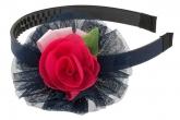 Красивый ободок с шифоновым цветком.