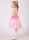 """Нарядное платье для девочки """"Марина"""" c розочками и изящным бантиком на поясе."""
