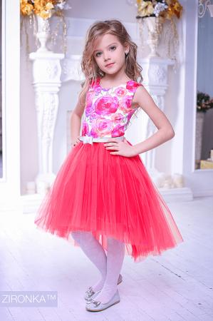"""Нарядное платье """"Флоренция"""" красного цвета.Нарядное платье без рукавов, с пышной юбкой. Оригинальный принт платья, придает яркость и красоту. Красивое платье для настоящих модниц! Оригинальное и красивое платье для любого торжества! Вверх платья из полиэстера, подкладка из хлопка, юбка из нескольких слоев, что придает пышность."""