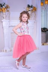 """Нарядное платье """"Флоренция"""" кораллового цвета."""