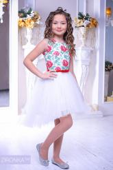 """Нарядное платье """"Флоренция"""" белого цвета."""