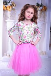 """Нарядное платье """"Майя"""" розового цвета."""