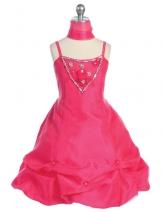 """Нарядное платье """"Габриэла"""" малинового цвета с шарфиком."""