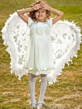 """Нарядное платье """"Ангел"""" кремового цвета."""