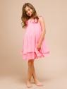 """Нарядное шифоновое платье """"Лаура"""" ярко-розового цвета."""