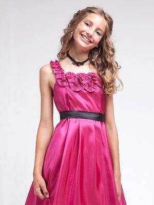 """Яркое платье малинового цвета. Платье """"Хейли"""" порадует вашу модницу, и оно станет одним из любимых нарядов. Платье идеально для любых праздников."""