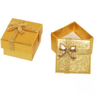 Ювелирная коробка под браслет, цепочку, часы.Картонно-бумажная коробка с блестящей ленточкой в тон коробочке. Квадратная коробка под аксессуары.