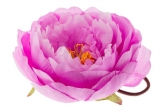 """Цветок """"Пион"""" сиреневого цвета на резинке."""