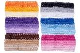 Разноцветная широкая повязка в сеточку.