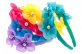 Ободок для волос с шифоновыми цветочками.