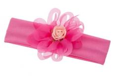 Красивая повязка с цветком малинового цвета.Оригинальная повязка с цветком. Идеальный аксессуар для девочек.