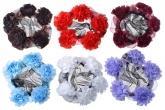 Сетки на пучок белого цвета с цветочками.