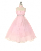 """Нарядное платье """"Гелла"""" розового цвета."""