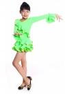 """Платье для танцев """"Кармелита"""" ярко-зеленого цвета цвета."""