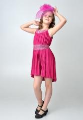 """Нарядное платье """"Эльза"""" темно-малинового цвета."""