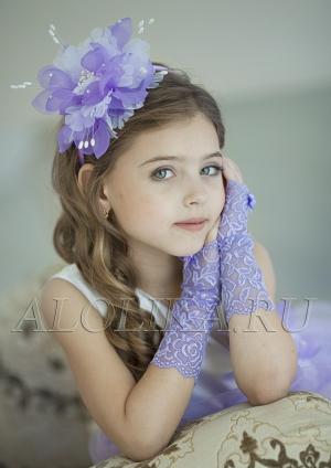 """Кружевные митенки """"Неженка"""".Кружевные перчатки к нарядным и бальным платьям. Перчатки для девочек."""