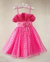 """Нарядное платье """"Марика"""" с цветочками и сердечками."""