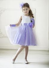 """Нарядное платье """"Розалия"""" с цветком на поясе."""