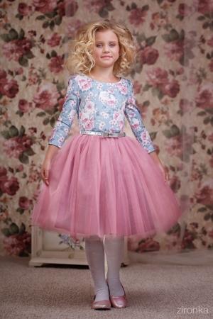 """Нарядное платье """"Сильвия"""" сиренево-розового цвета.Очень нежное платье для маленьких модниц! Оригинальное и красивое платье для любого торжества! Вверх платья из полиэстера, подкладка из хлопка, юбка из нескольких слоев, что придает пышность."""