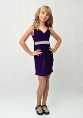 """Элегантное платье """"Ольга"""" фиолетового цвета."""