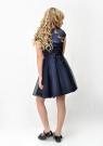 """Нарядное платье """"Юлия"""" темно-синего цвета с болеро."""