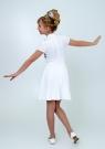 """Трикотажное нарядное платье """"Вера"""" молочного цвета."""