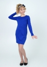 Нарядное трикотажное платье трансформер цвета электрик.