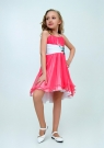 """Нарядное платье с болеро """"Анна"""" цвет арбузный."""