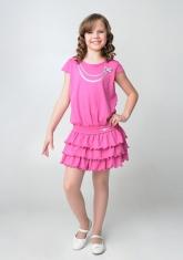 """Нарядное платье """"Капитолина"""" темно-розового цвета."""