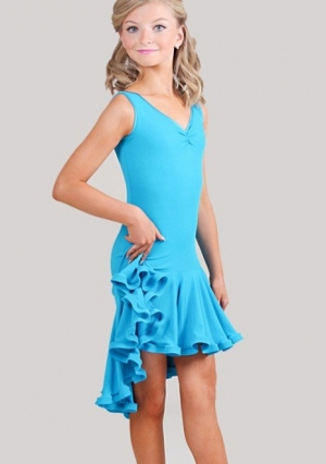 Очаровательное платье для латиноамериканских танцев. Шикарный крой и цвет не оставит равнодушных никого. Данное платье идеально для танцев, тренировок, выступлений. Оригинальное платье для латинских танцев, чачача и не только.
