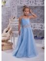 """Нарядное платье """"Юлитта"""" с поясом из страз."""