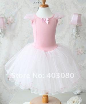 """Купальник для танцев """"Нежность"""" розового цвета.. Нежный цвет костюма для танца и его фасон, понравится любой девочке, в нем она будет сиять и чувствовать себя принцессой. Купальник с пышной юбкой, предназначен для занятий и выступлений!"""