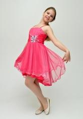 """Нарядное платье """"Анна"""" малинового цвета с болеро."""
