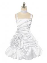 """Нарядное платье """"Сибил"""" белого цвета."""