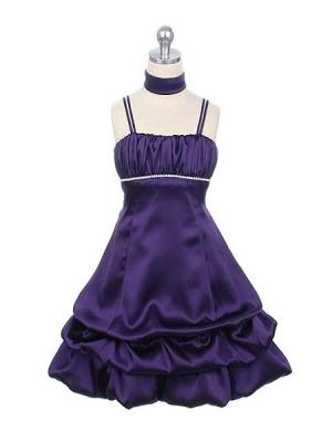 """Нарядное платье """"Суссана"""" фиолетового цвета с шарфиком.Платье с завышенной талией, украшенное стразами. Низ платья с оборками. Красивое и изящное платье для настоящих модниц! Длина платья указана с лямками."""
