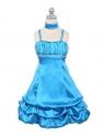 """Нарядное платье """"Суссана"""" лазурного цвета с шарфиком."""