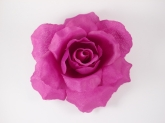 "Цветок на голову ""Роза"" фиолетового цвета на заколке."