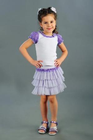 Нарядная юбка для девочки дошкольного и младшего школьного возраста с оборками из нежной мягкой сетки. Эластичный пояс из трикотажного полотна.Красивая юбочка для самых маленьких модниц!