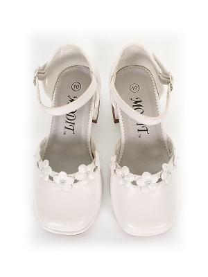 Нарядные туфли белого цвета c цветочками.Ваша малышка будет самой красивой и модной в таких туфлях. (Размер США 8)