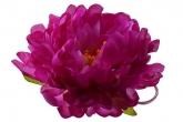 """Большой цветок """"Пион"""" фиолетового цвета на резинке."""